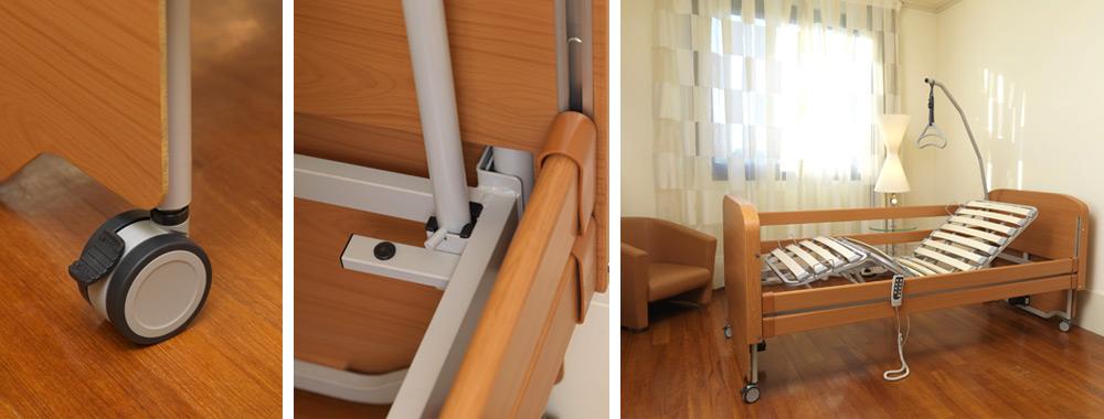 Letti sovrana per anziani e disabili letto elettrico reclinabile - Sbarre letto anziani ...